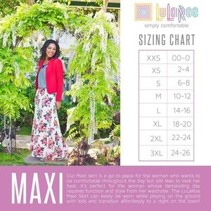 LuLaRoe Skirts - NWT XXS LuLaRoe Maxi bold feminine fun fall fest